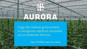 Aurora Cannabis Urges to Use Medical Cannabis an Essential Service