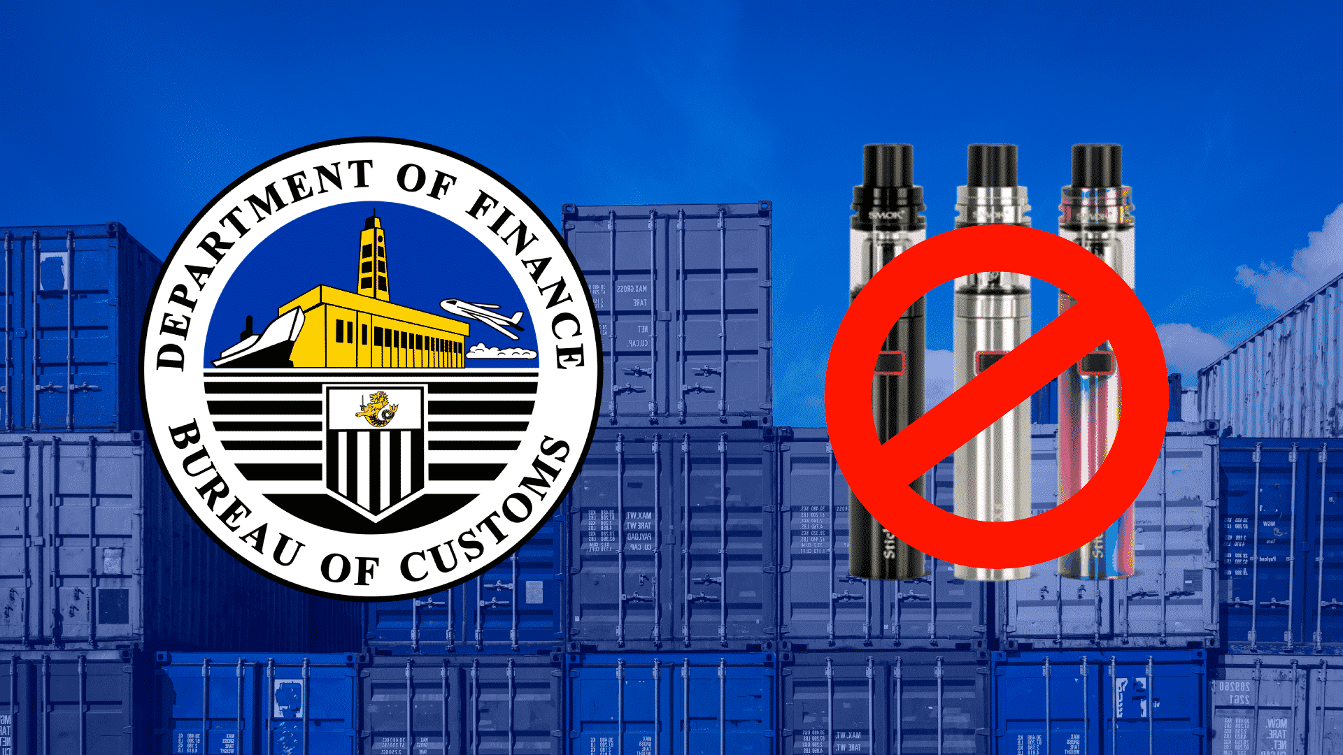 BOC Plans to Block Importation of Vape Products After President Rodrigo's Order
