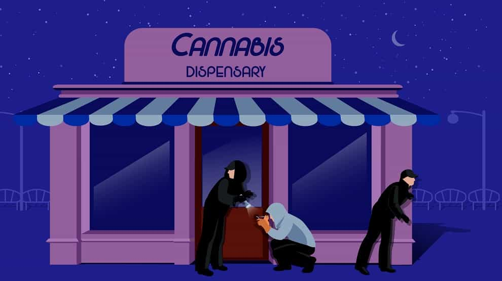 Thieves Target Recreational Marijuana Dispensary