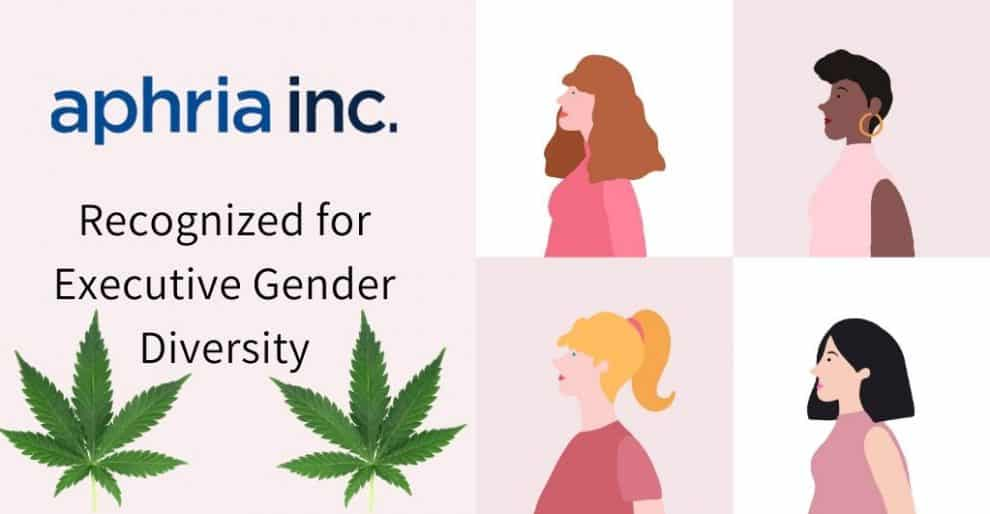 Aphria Inc. Recognized as Executive Gender Diversity by Globe and Mail