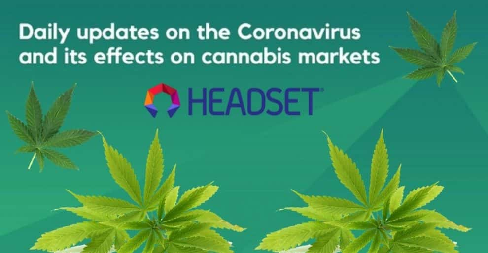 Headset Launches Platform for Coronavirus' Impact on Cannabis Market