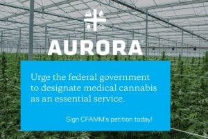 Aurora Cannabis Urges to Use Medical Cannabis an Essential Service